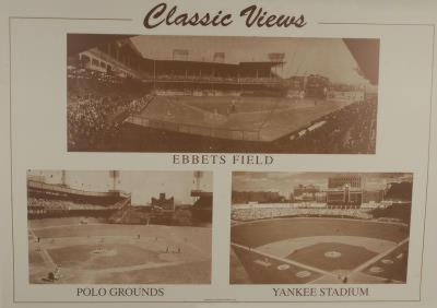 Classic Views Ebbets Field Polo Grounds Yankee Stadium Sports Poster Print