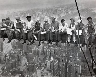 workers empire state New York classic POSTER print