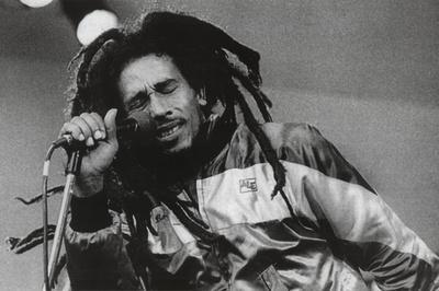 Bob Marley Singing Music Poster Print