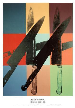 Andy Warhol (Knives) Art Poster Print