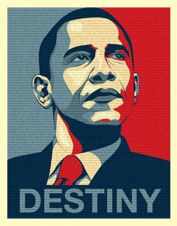 Barack Obama (Destiny, Entire Speech) Art Poster Print