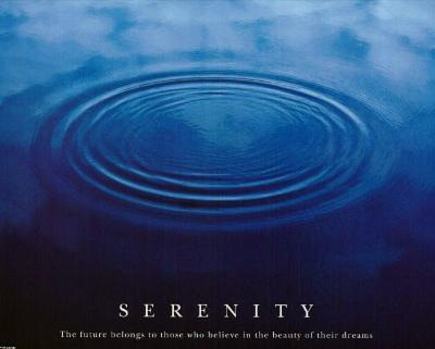 Serenity (Drops in Water) Motivational Art Poster Print