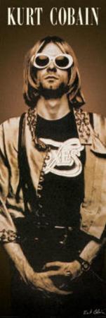 Kurt Cobain Sunglasses Door Music Poster Print