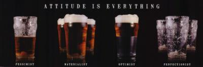 Attitude is Everything (Beer Glasses) Art Poster Print