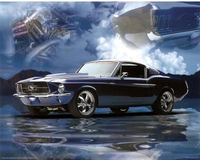 1967 Ford Mustang Fastback Art Print Poster
