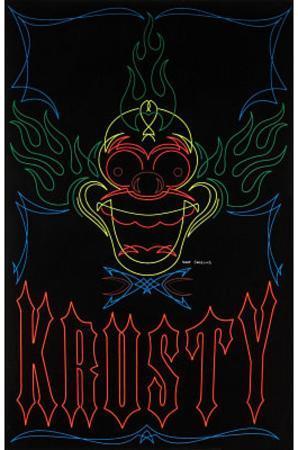The Simpsons Krusty the Clown TV Blacklight Poster Print