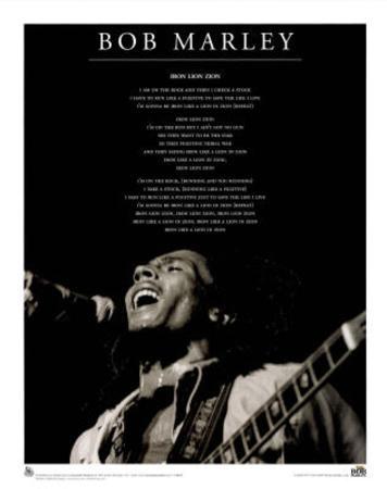 Bob Marley (Iron Lion Zion) Music Poster Print