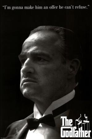 The Godfather Movie Marlon Brando Offer He Can't Refuse Poster Print