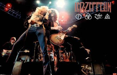 Led Zeppelin (Live on Stage) Music Poster Print