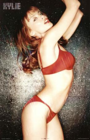 Kylie Minogue Red Lingerie Music Poster