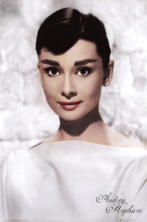 Audrey Hepburn (White) Movie Poster Print