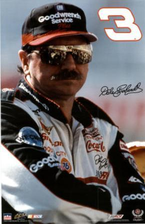 Dale Earnhardt (Portrait) Sports Poster Print