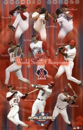 Los Angeles Angels of Anaheim 2002 World Series Champions Sports Poster Print