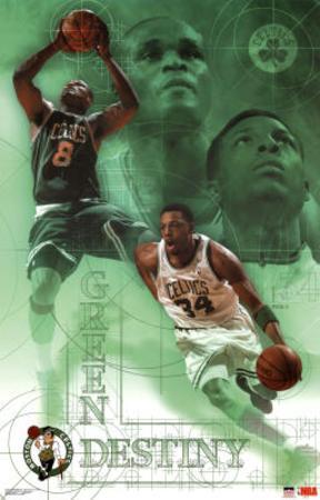 Boston Celtics Green Destiny Sports Poster Print