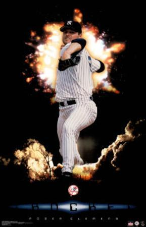 New York Yankees Roger Clemens The Rocket Sports Poster Print