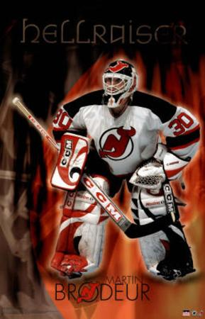 New Jersey Devils Martin Brodeur Sports Poster Print