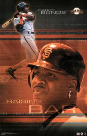 San Francisco Giants Barry Bonds Raising the Bar Sports Poster Print
