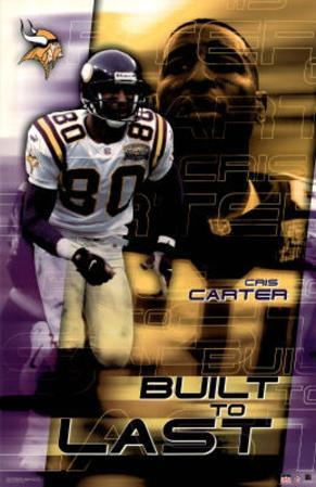 Minnesota Vikings Cris Carter Sports Poster Print