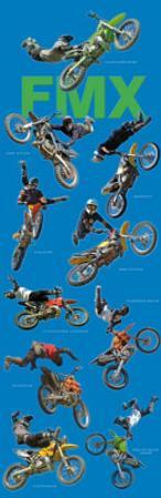 Freestyle Motocross (Riders in Air, FMX, Door) Sports Poster Print