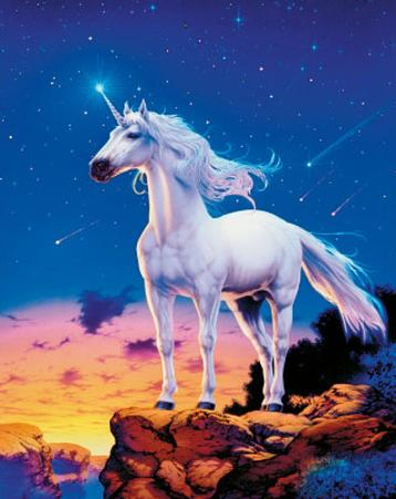 Unicorn (Comets) Art Poster Print