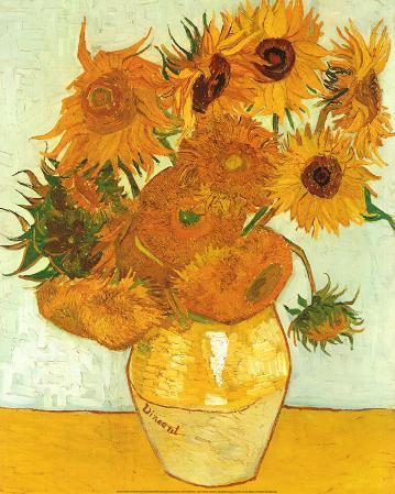 Vincent Van Gogh (Vase with Twelve Sunflowers, Les Tournesols) Art Poster Print