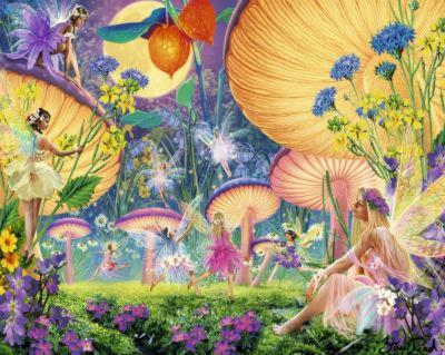 Fairy Ring (Fantasy Scene) Art Poster Print