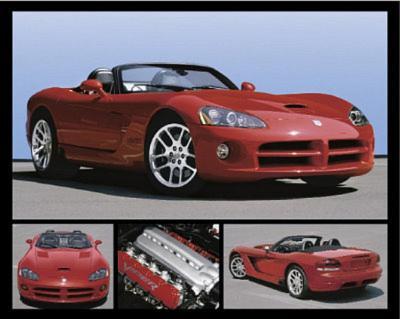 Dodge Viper (Red SRT) Art Poster Print