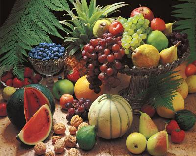 Frutta Fresca (Fresh Fruit Still Life) Art Poster Print