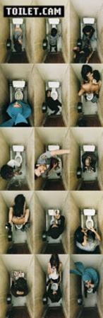 Toilet Cam (Bathroom Scenes) Art Poster Print
