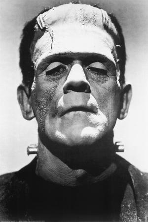 Frankenstein Movie (Boris Karloff, Close-Up) Poster Print
