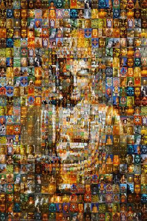 Buddha (Mosaic) Art Poster Print