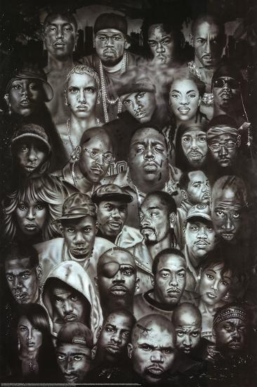 Cool Posters Black And White Rap Gods (Rappe...