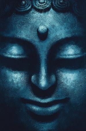 Blue Buddha (Face) Art Poster Print