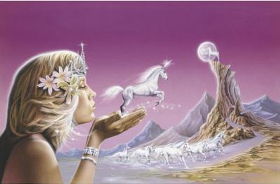 Unicorn Princess (Fantasy Art) Poster Print