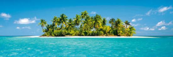 Maldives Island (Tropical Beach) Art Poster Print Prints
