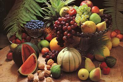 Frutta Fresca (Fresh Fruit Still Life) Art Poster Print