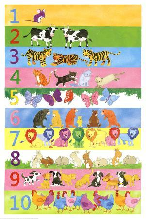 1 to 10 Learn to Count Art Print Poster