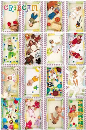 Crib Cam (Baby Collage) Art Poster Print