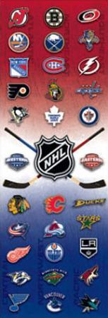 NHL Logos Sports Door Poster Print