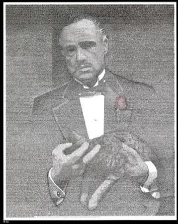 Godfather Movie (Script) Poster Print