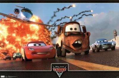 Cars 2 Movie Action Trio Poster Print