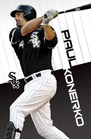 Chicago White Sox Paul Konerko Sports Poster Print