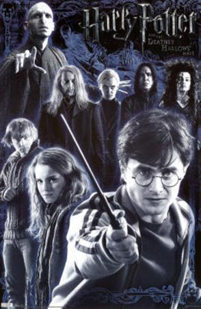 Harry Potter and the Deathly Hallows Part 2 Movie Cast Poster Print