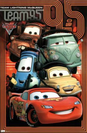 Cars 2 Movie Pit Crew Poster Print