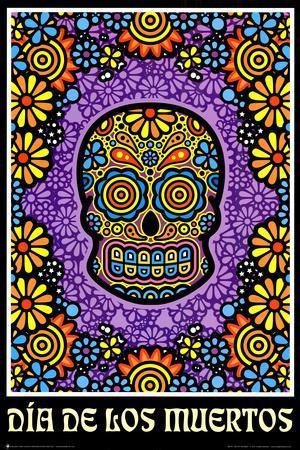 Dia de los Muertos Day of the Dead Art Poster Print