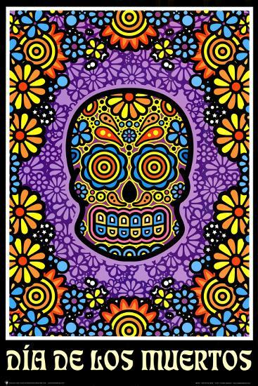 Dia De Los Muertos Day Of The Dead Art Poster Print