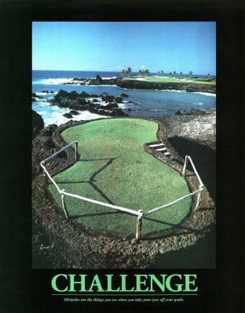 Challenge (Golf) Art Poster Print