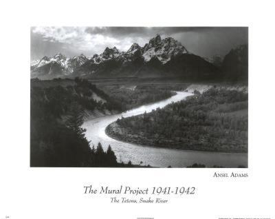 Snake River Grand Tetons Ansel Adams ART PRINT POSTER