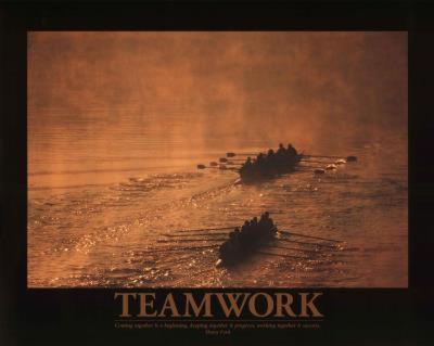 Teamwork (Rowers) Art Poster Print