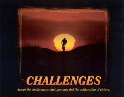 Challenges (Bicyclist) Art Poster Print